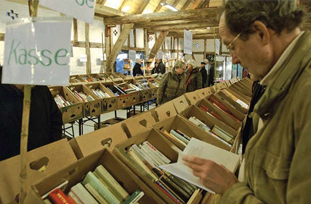 Büchermarkt in der Bötker'schen Scheune
